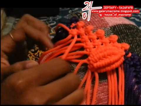 Tutorial Membuat tas tali kur motif Kerang Besar part 1