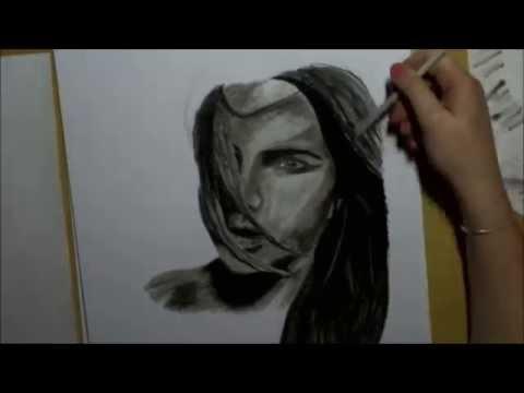 Zeichnen mit Kohle – Portrait 2