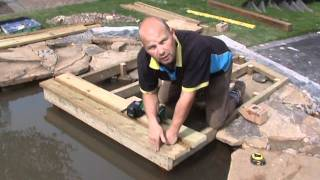 How To Build A Wildlife Pond: Part 5 - Installing A Dipping Platform And Hibernaculum