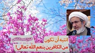 انتبه أن تكون من الكافرين بنعم الله تعالى! - الشيخ حبيب الكاظمي
