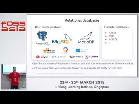 Open Source database services in the cloud- Oskari Saarenmaa- FOSSASIA 2018