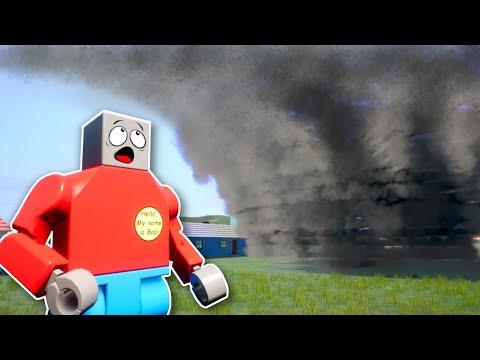 Giant Tornado Attacks Lego City! - Brick Rigs Multiplayer Gameplay