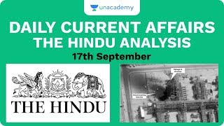 17th September - Daily Current Affairs - The Hindu Analysis for Mains And Prelims UPSC CSE 2020