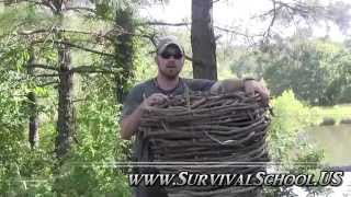 How to set a basket fish trap for long term survival