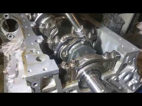 Сборка гильзованного мотора м272 на кованной поршневой