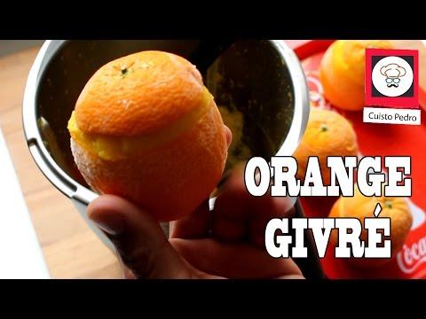 Glace orange givré sans sorbetière Thermomix tm5