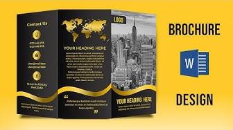 Design a Custom Brochure in MS Word 2019