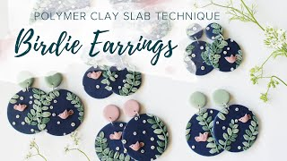 Birdie Earrings | Polymer Clay Slab Tutorial
