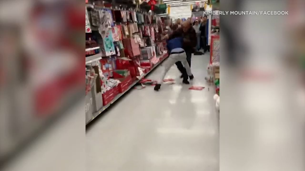 Black Friday fight: Video shows two Marines throwing punches inside Murrieta Walmart I ABC7