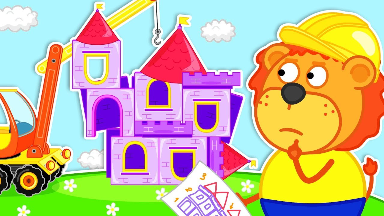 Lion Family Building A Playhouse Cartoon For Kids Youtube