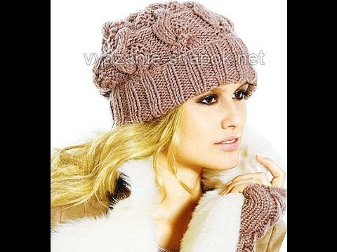 ВЯЗАТЬ ЖЕНСКИЕ ШАПКИ СПИЦАМИ - 2017 / Womens hats KNITTING SPOKE / Kopfbedeckungen KNITTING SPOKE
