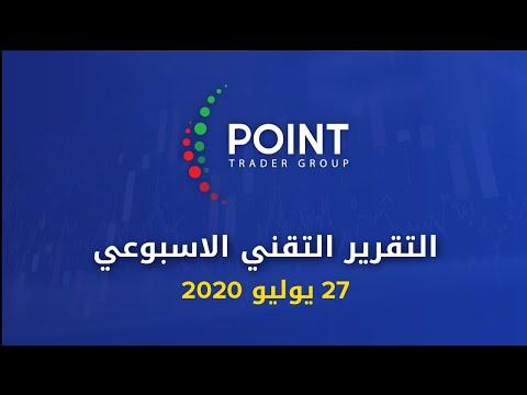 التقرير التقني الاسبوعي 27 يوليو 2020 | Point Trader Group