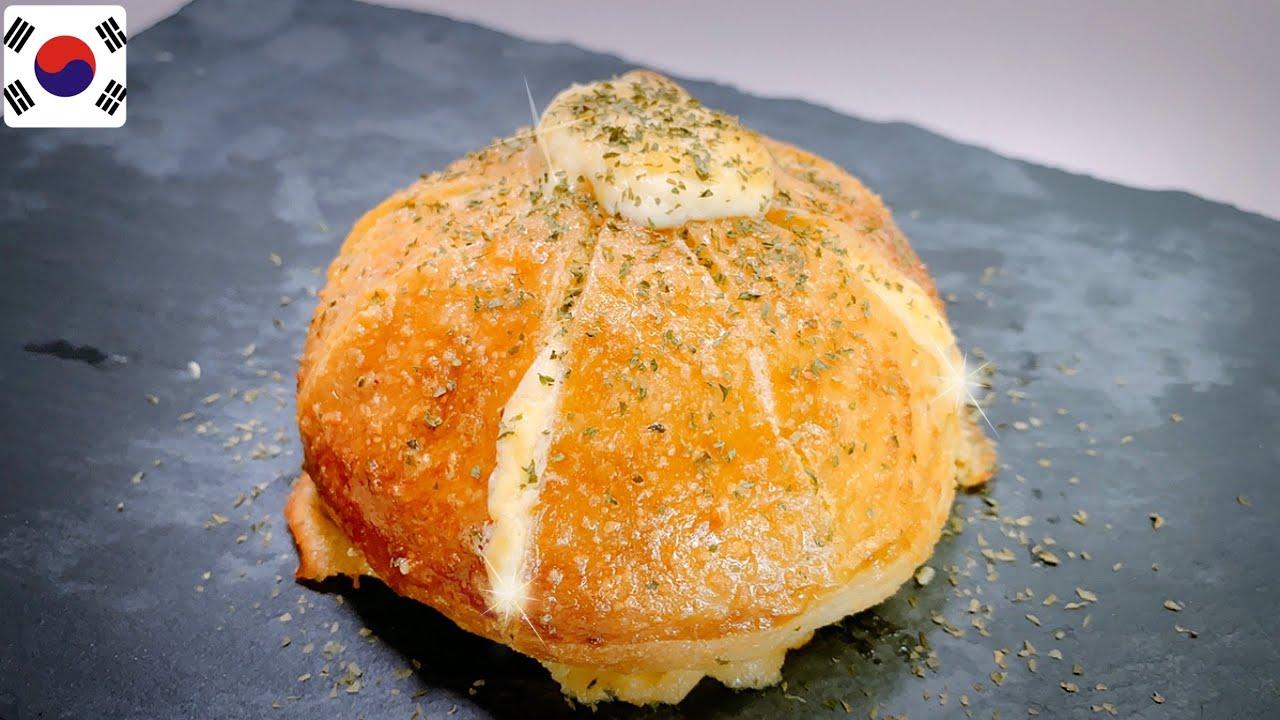 Receta Pan de Ajo con Queso Crema COREANO
