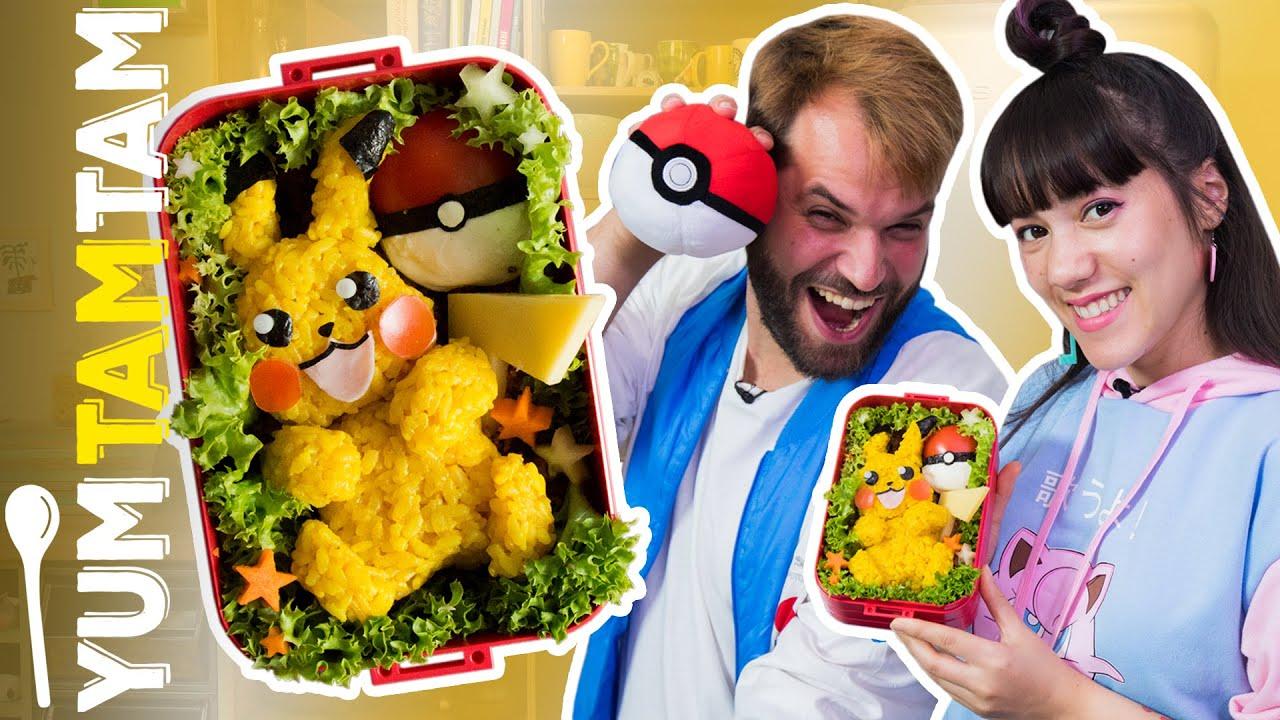 Pokémon Bento Box // Pikachu-Reis mit Hackfleisch & Teriyaki-Soße // #yumtamtam