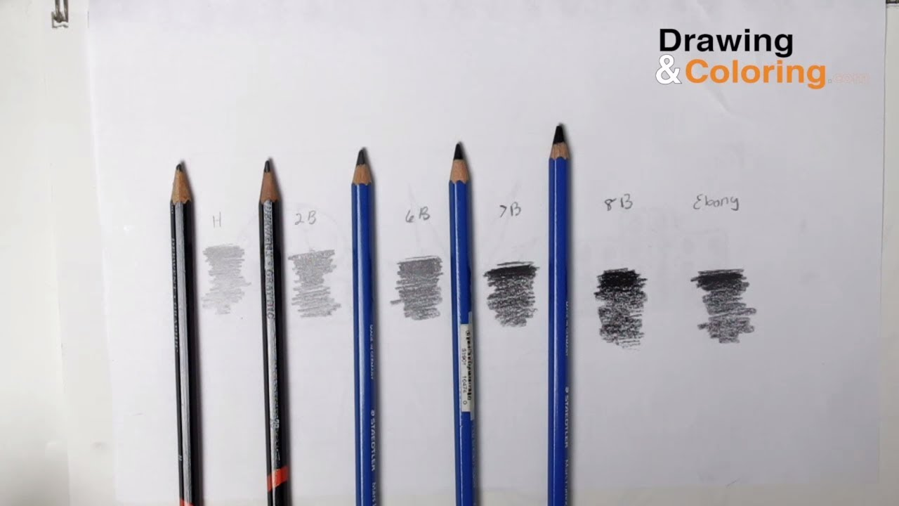 Pencil hardness the only 4 pencils you need youtube