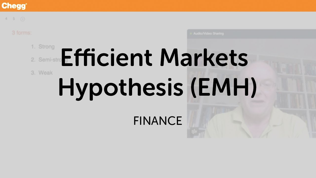 efficient market thesis Prices in a weak-form efficient market incorporate all information  unpublished  msc thesis, department of economics, university of ibadan.
