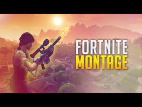 fortnite battle Royale epic MONTAGE 205M hunter Rifle HEADSHOT