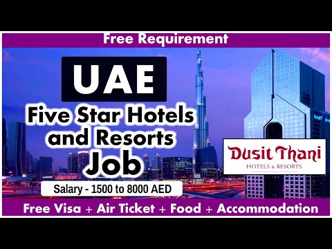 Five Star Hotels and Resorts Job in UAE 2020 || Salary 1500 - 8000 AED || Free Jobs | Gulf Job Guide