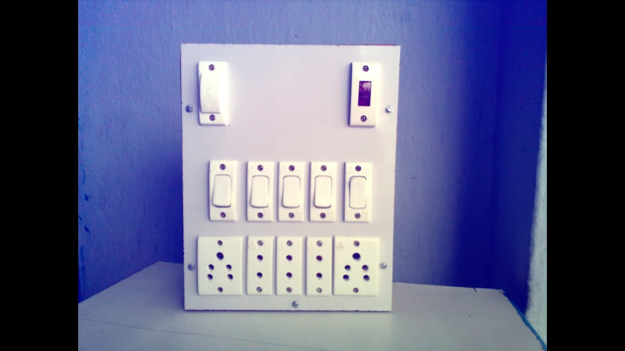 Switch Board Wiring Connection Youtube Simple Electrical Diagrams Wall Socket