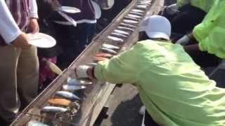 恒例になりました、焼津小川港サバ祭り。本日も早朝から沢山のお客さん...