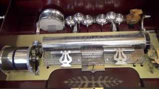 Full Orchestral Antique Music Box