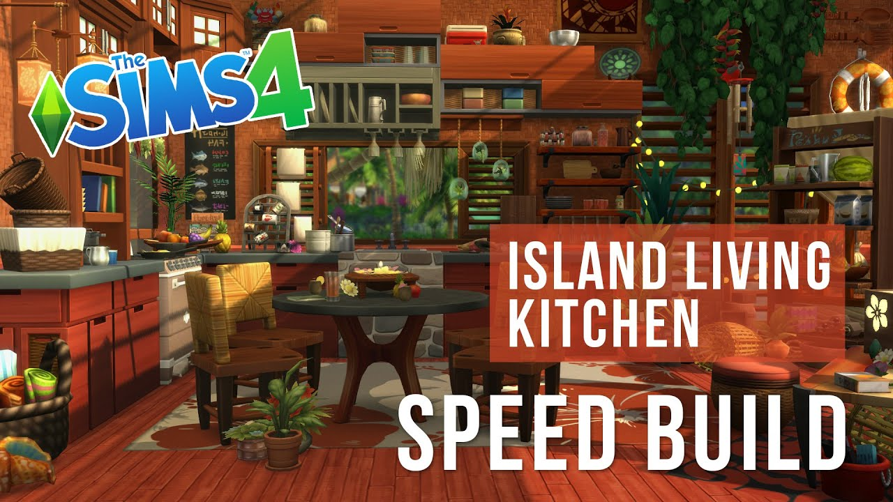 The Sims 4 Speed Build Island Living Kitchen Youtube