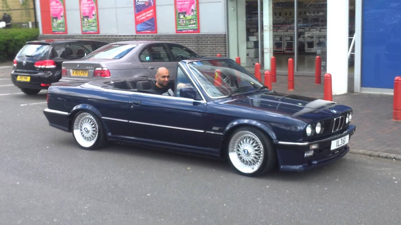 1989 bmw e30 325i convertible mtec 1 chrome  YouTube