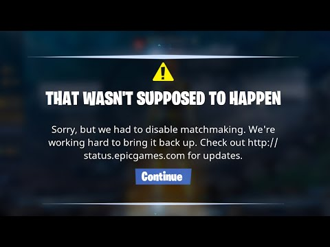 matchmaking in fortnite disabled