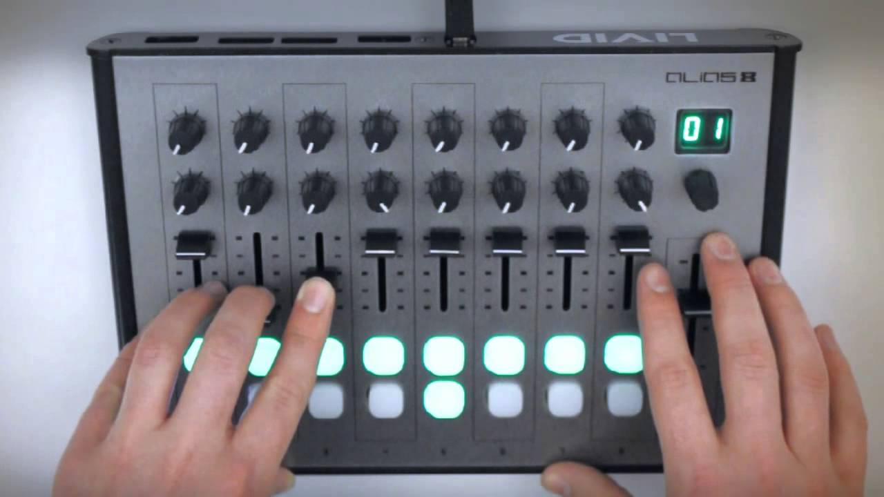 alias8 compact midi controller and ableton live youtube. Black Bedroom Furniture Sets. Home Design Ideas