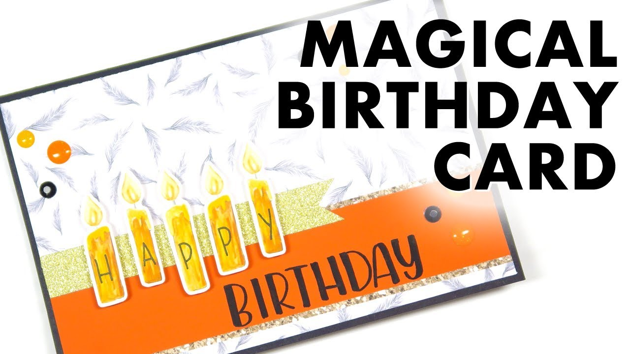 LETS MAKE A CARD Magical Harry Potter Birthday Card With TombowUSA