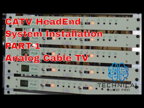 Analog Cable TV System Part-1 CATV Headend system installation   CATV Modulator Urdu / Hindi