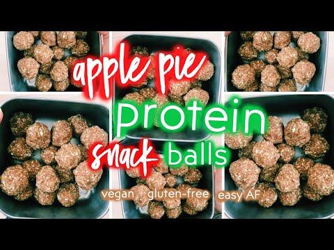 Apple Pie Protein Snack Balls {vegan, gf, easy AF!}