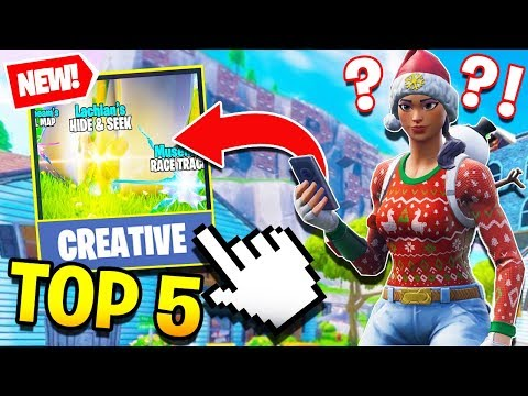 TOP 5 BEST *NEW* CREATIVE MAPS in FORTNITE