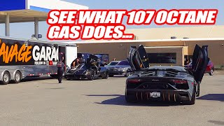 PUTTING *RACE GAS* IN ALL OUR SUPERCARS FOR THE DESERT! Boy Did It Make A Difference!
