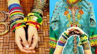 Idea for Colorful Dress Matching Chudiyan (Bangles) Eid Shopping & Preparation Urdu Hindi