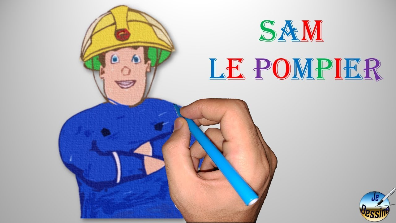 Coloriage Facile Sam Le Pompier.Dessiner Sam Sam Le Pompier Youtube