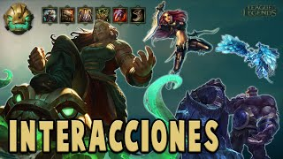 Illaoi | Interacciones a campeones y objetos [League of Legends]