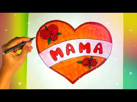 Как нарисовать рисунок МАМЕ ко Дню Матери?