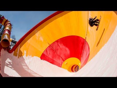 Snowboarding An Empty Water Park | Snowmusement