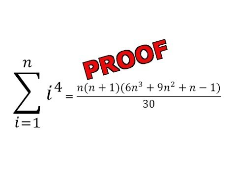 Sum of n integers to the power of 4: Simple Proof