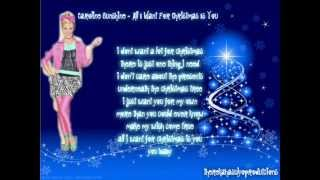 Caroline Sunshine - All I Want For Christmas Is You Lyrics (therekahasulyoproductions 2012)