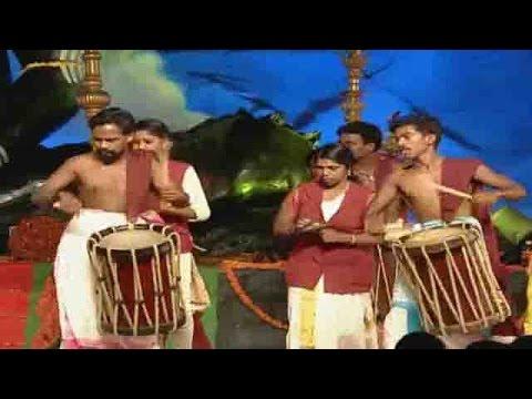 Traditional Pamba Melam Performance at 7th Day Koti Deepothsavam 2015