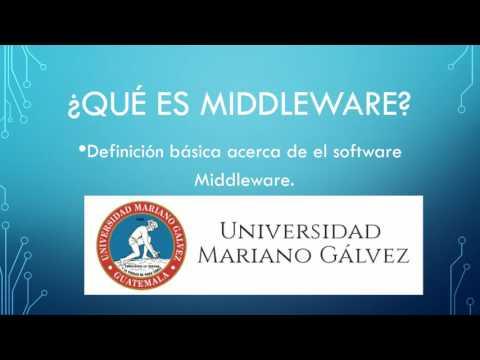 Que es el software Middleware, definición básica.