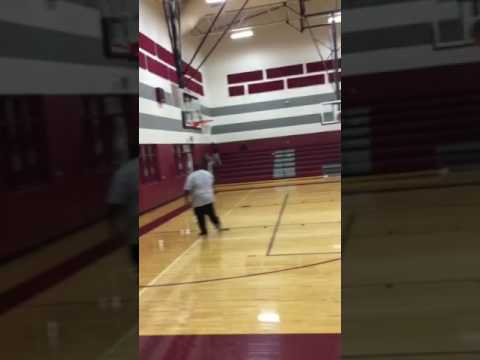 Foster Middle School Assistant Coach Shooting 3 Pointers