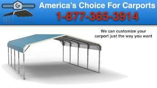 Afton Metal Carports | Garagebuildings.com