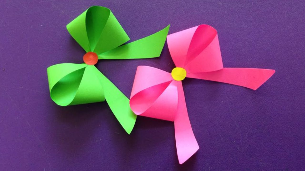 How To Make A Paper Bow Ribbon Easy Origami Bow Ribbons For