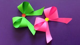 How to make a paper Bow/Ribbon | Easy origami Bow/Ribbons for begin...