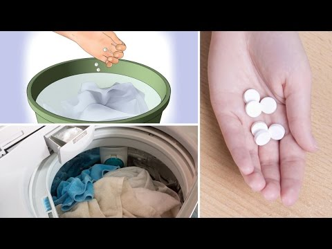 Put an Aspirin in Your Washing Machine – It's Incredibly Effective