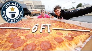 We Made & Hand Delivered The World's LARGEST Pizza (Guinness World Record)
