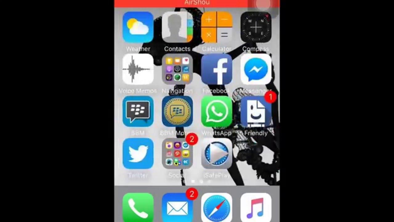 aplikasi rekam layar iphone - YouTube